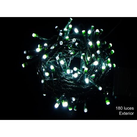 Luz Navidad 8 Funciones Led 180 Luces Blanco Juinsa