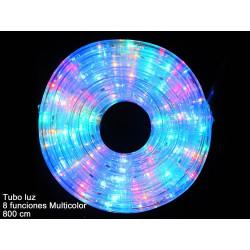 Luz Navidad Tubo Led 8 Funciones Multicolor Juinsa 800 Cm