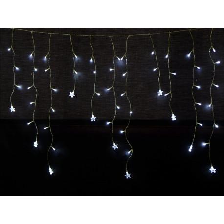 Luz Navidad Fija Estrella 180 Luces Blanco Juinsa