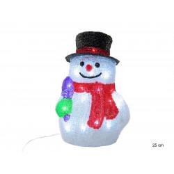 Adorno Navidad Muñeco Nieve Led 30 Luces Juinsa 25 Cm