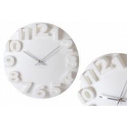 Reloj Pared Blanco Plastico 35x3,50x35cm
