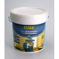 Pintura Antimanchas Al Agua Titan Blanco Mate 750ml h24000334