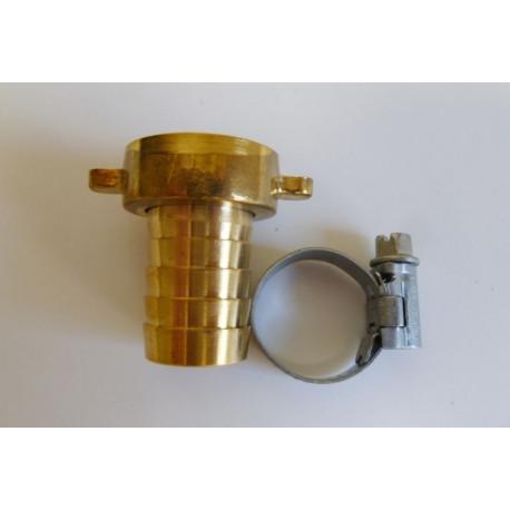 Racor Manguera Con Abrazadera Laton Pulid 1/2x12/14mm Saneap