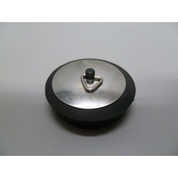 Tapon Con Embellecedor Goma/chapa Negro/inox 38mm Saneaplast
