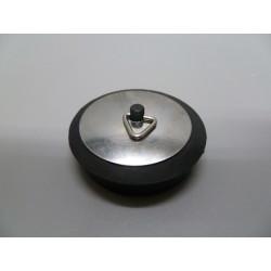 Tapon Con Embellecedor Goma/chapa Negro/inox 55mm Saneaplast