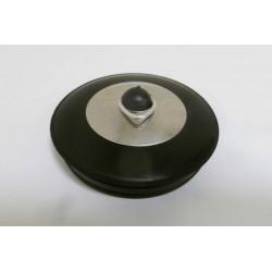Tapon Fregadero Tipo Teka Goma Negro/inox 55,5mm Saneaplast