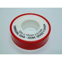 Teflon Alta Densidad Para Gas Blanco 0,1x12mmx12m Saneaplast