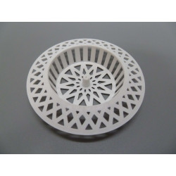 Rejilla Lavabo Plastico Blanca 70x40mm Saneaplast
