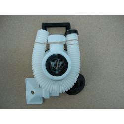 Valvula Rebosadero Plastico Blanca 113mm Saneaplast