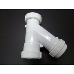 "Sifon ""y"" Vertical Plastico Blanco 11/2"" Saneaplast"