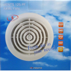Extractor Baño Plastico Blanco Pf 125mm Saneaplast
