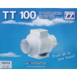 Extractor En Linea Plastico Blanco Tt 100mm Saneaplast