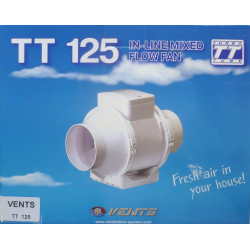 Extractor En Linea Plastico Blanco Tt 125mm Saneaplast