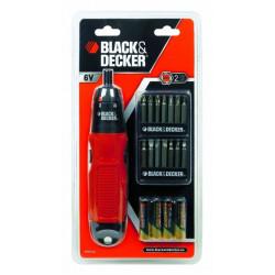 Atornillador Electrico 6v 19 Puntas Black+decker A7073-xj