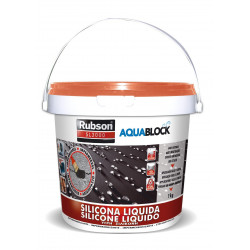 Silicona Liquida Elastica 100% Impermeab Teja 1kg Aquablock