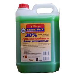 Anticongelante-refrigante Al 30% Uso Directo -18ºc 5lt Verde