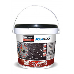 Silicona Liquida Elastica 100% Impermeab Negra 1kg Aquablock