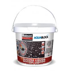 Silicona Liquida Elastica 100% Impermeab Blanc 1kg Aquablock