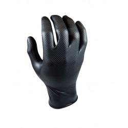 Guante Nitrilo Desechable Escamado Negro Gripazz L 50pz