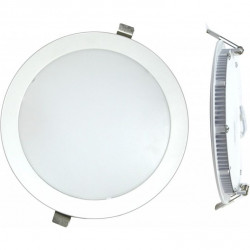 Downlight Led Empotrar Plano Plata-6000k 18w