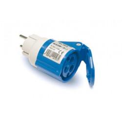 Adaptador Clavija 2p+ttl Base 2p+t Azul Famatel