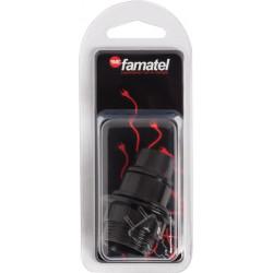 Portalamparas E-14 Roscado+arandela Negro Blister Famatel