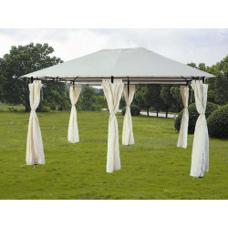 Cenador Metálico 3x4x2/2,7 m con cortinas