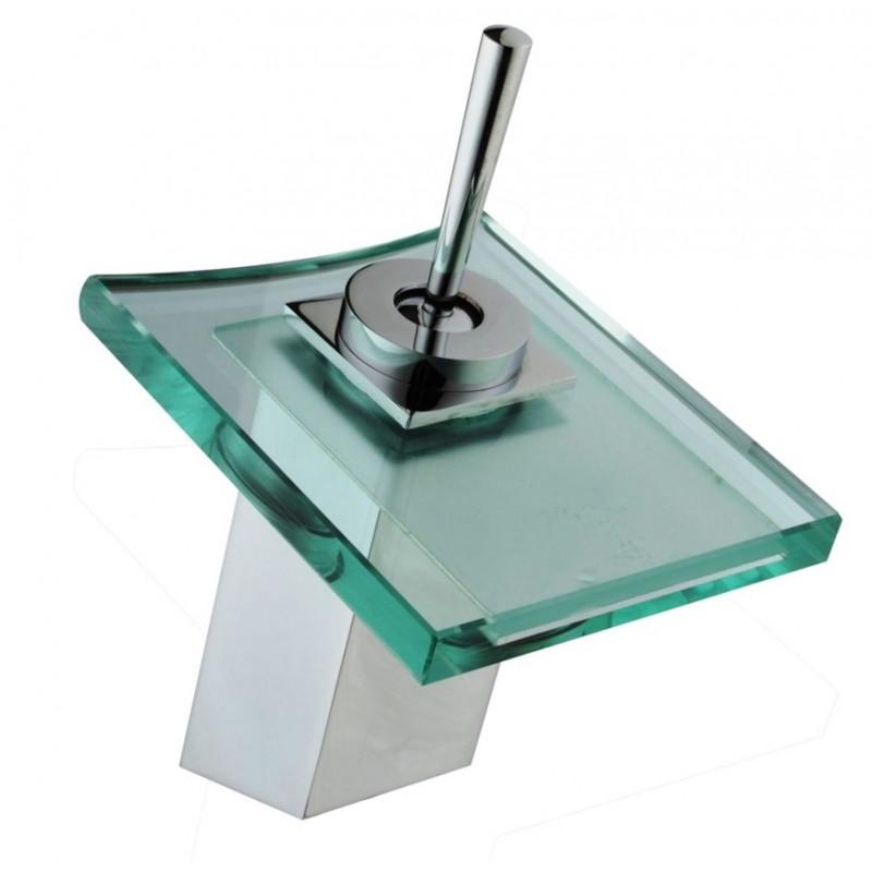 Comprar grifo lavabo monomando cascada cristal dp griferia for Grifo en cascada