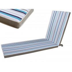 Cojin Tumbona Azul/gris 190x55x4cm Juinsa Marinero