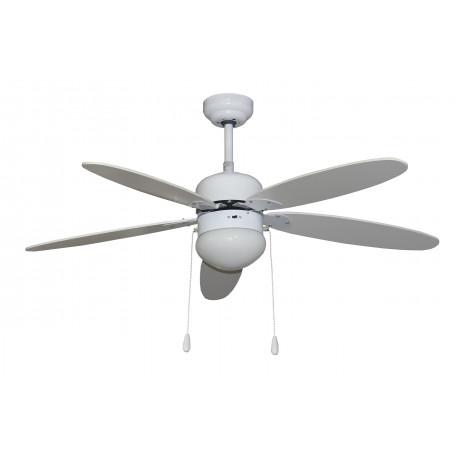 Ventilador Techo Luz 60w 3 Veloc 5 Aspas 50w Vivahogar Segin