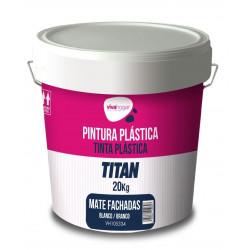 Pintura Plastica Vivahogar Mate Blanca Exterior Fachada 20kg