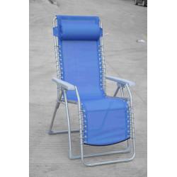 Tumbona Jardin Natuur Acero/textileno Azul Plegable