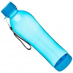 Botella Liquido C/tapa Transparente Azul