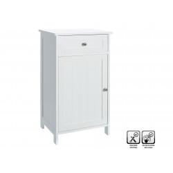 Mueble Baño Suelo 1cajon 1puerta Blanco 43x34x77cm