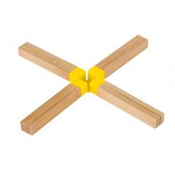 Salvamanteles Bambu Y Silicona Amarillo
