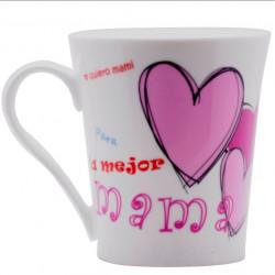Taza Desayuno C/asa 380ml Mug Te Quiero Porcel Silicone