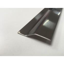 Perfil Plaqueta Desnivel Acero Adhesivo 4,5x83cm