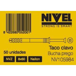 Taco Clavo Nvz 8x60 50pz Nivel