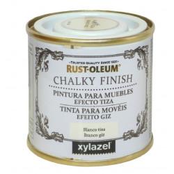 Pintura Muebles Al Agua Efecto Tiza Chalky Blanco Anti 750ml