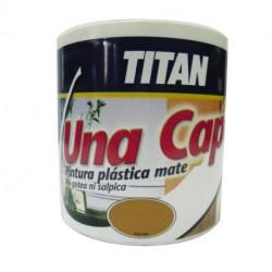 Pintura Plastica Mate Titan Una Capa 750ml Esmeralda