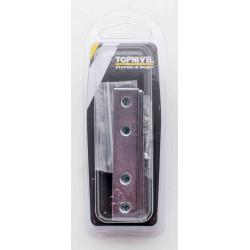 Placa Ensamble 80x15mm Recto Nivel Acero Cinc Nv106175 4 Pz