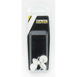 Patin Deslizador Muebles 17mm Clavo Bl Nivel 4 Pz