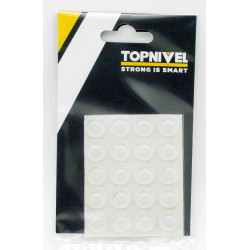 Tope Prot.golpes 13x 4mm Adh Antidesl Tra Nivel 25 Pz
