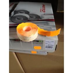 Etiqueta Adh 26x16cm Troquelada Naranja Fluorescente Meto 1.