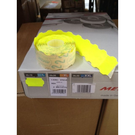 Etiqueta Adh 32x19cm Amarillo Fluorescente Meto 1.000 Pz