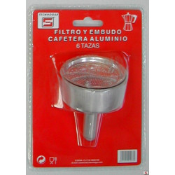 Filtro+embudo Cafetera 06tz Nyl Thogar