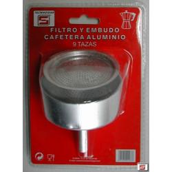 Filtro+embudo Cafetera 09tz Tecnhogar