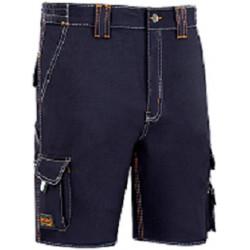 Pantalon Trabajo T44 Corto Alg Az/mar Stretch Triple Costura