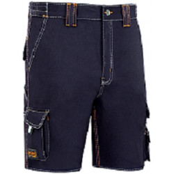 Pantalon Trabajo T48 Corto Alg Az/mar Stretch Triple Costura