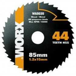 Disco Corte Multiusos Hss 44 Dientes 85mm Para Sierra Circul